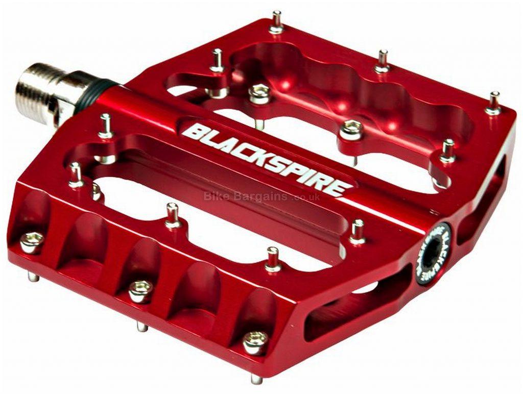 "Blackspire Sub420 Flat Pedals Flat, MTB, 400g, Alloy, Red, Black, Blue, Green, Silver, 9/16"""