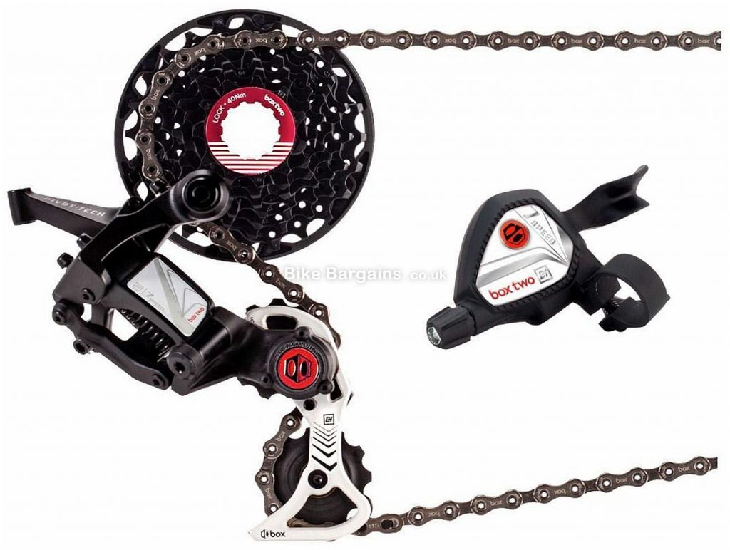 Box Two 7 Speed DH Drivetrain Groupset 7 Speed, Single Chainring, Alloy, Black, Silver, Red