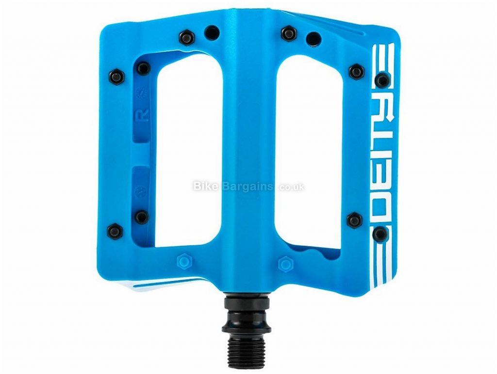 Deity Compound v2 Flat Pedals Flat, MTB, 339g, Nylon, Black, Blue, Red, Orange, 9/16""