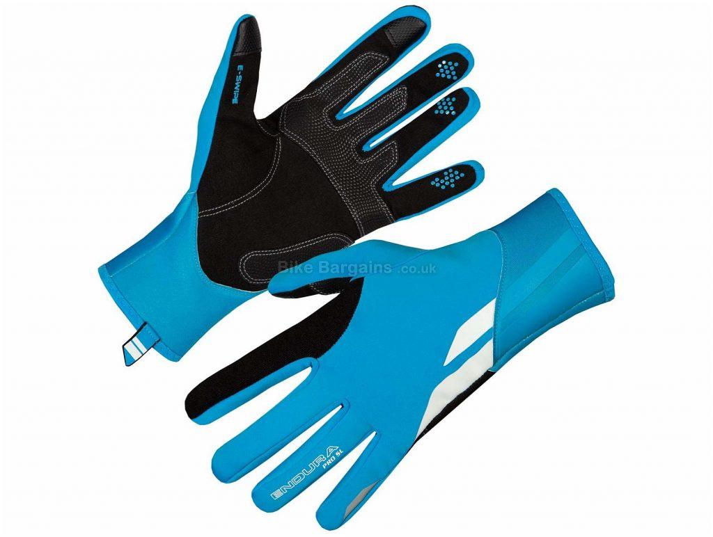 Endura Pro SL Windproof Gloves S,XL, Blue, Full Finger