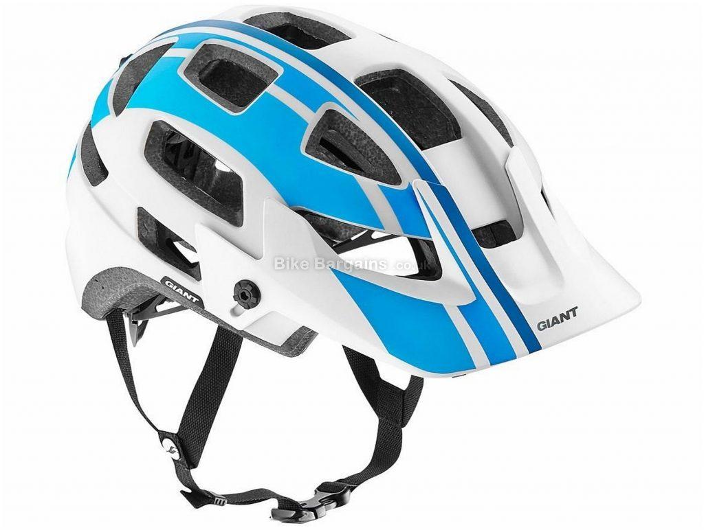 Giant Rail MTB Helmet S, White, Yellow, 18 vents