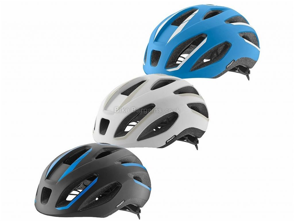 Giant Strive Helmet M, Blue, White, Grey, 12 vents