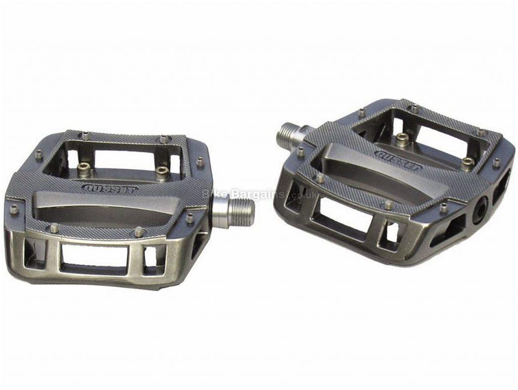 "Gusset Slim Jim Magnesium Pedals Flat, MTB, 435g, Magnesium, Grey, Silver, 9/16"""