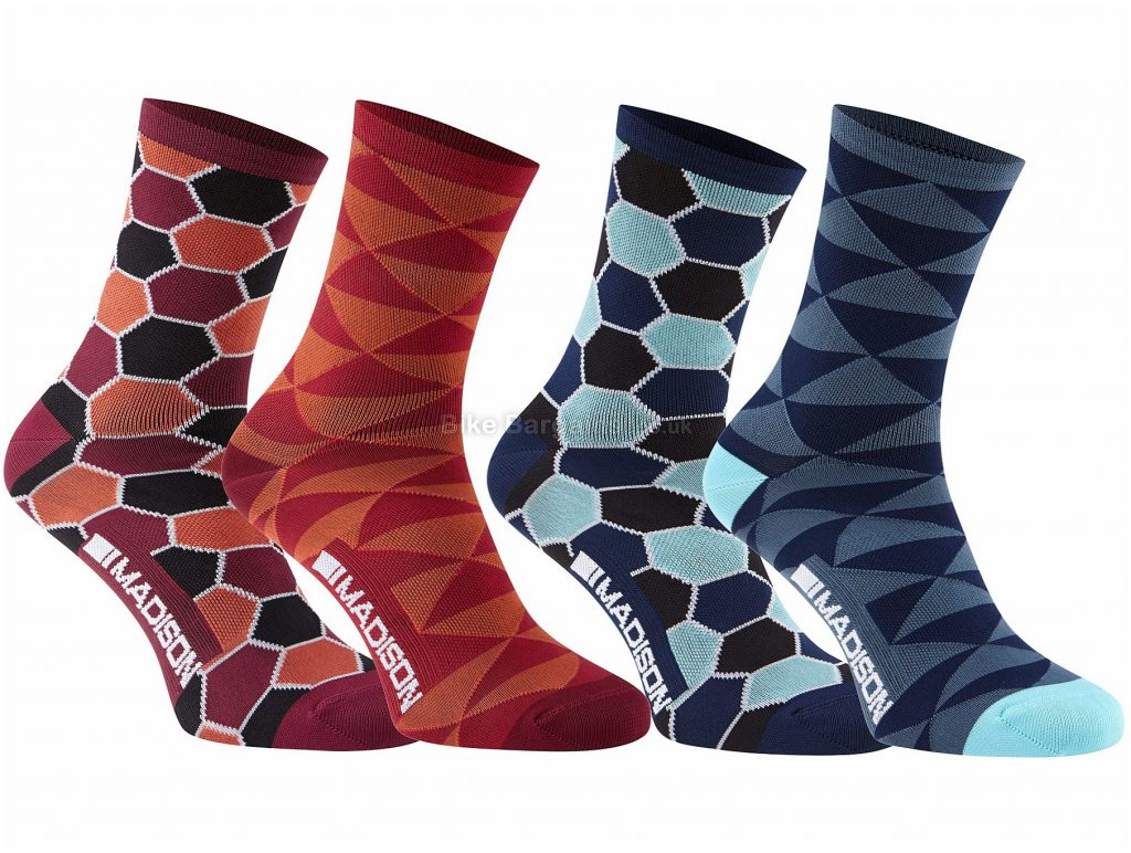 Madison Sportive Race Long Socks Twin Pack S, Red, 2 pack