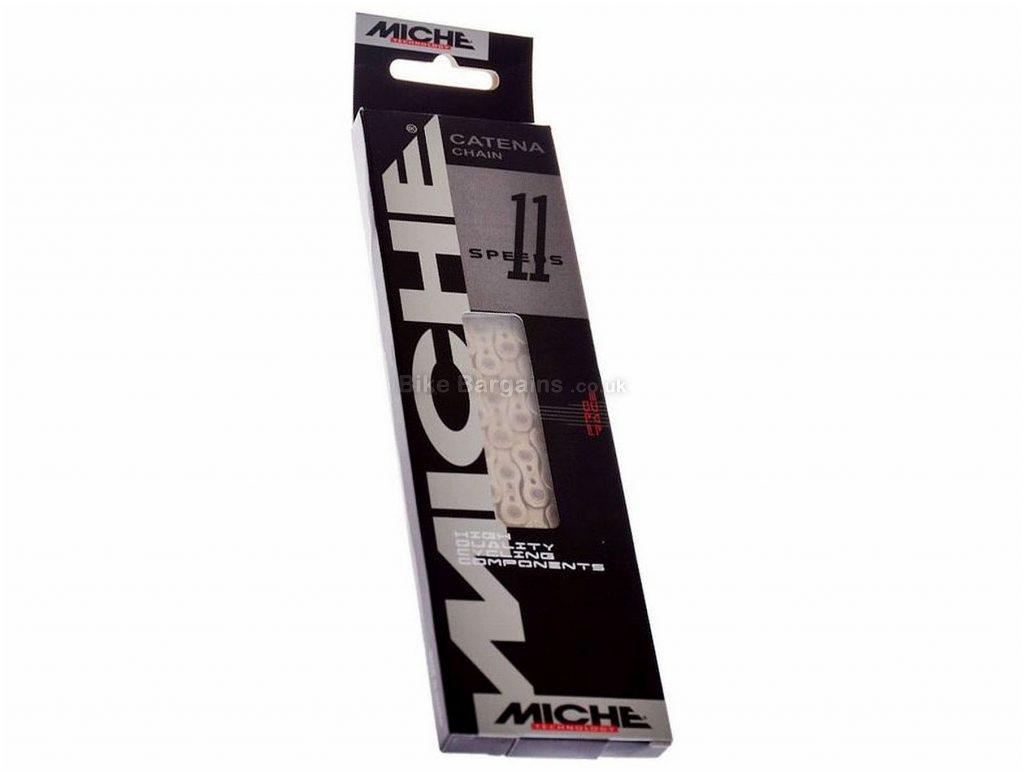 Miche Pro Race 11 Speed Chain 11 Speed, 116 links, 264g, Steel, Silver, MTB, Road