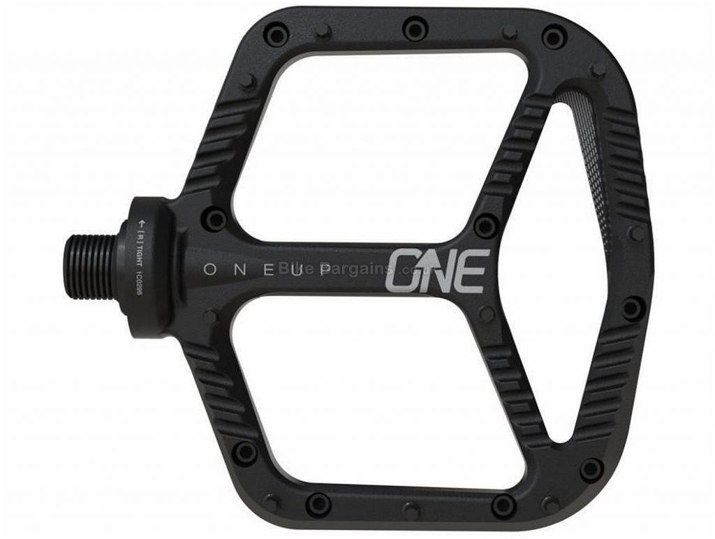 """OneUp Flat Aluminium Pedals Flat, MTB, 355g, Alloy, Black, 9/16"""""""