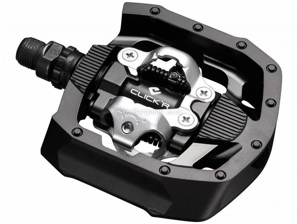 "Shimano MT50 Click'R SPD Pedals Flat, Clipless, MTB, 498g, Steel, Black, Silver, 9/16"""