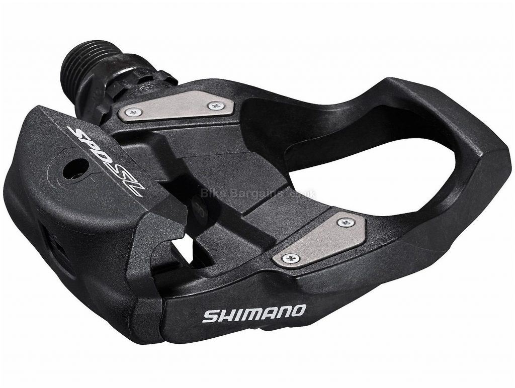 Shimano RS500 SPD-SL Pedals Clipless, Road, 320g, Steel, Black, 9/16""