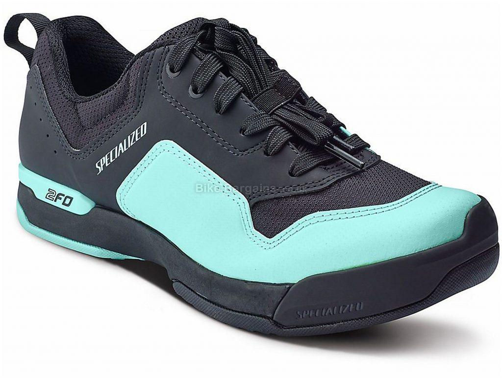 Specialized 2fo Cliplite Lace Ladies MTB Shoes 2018 36, Black, Turquoise, Laces