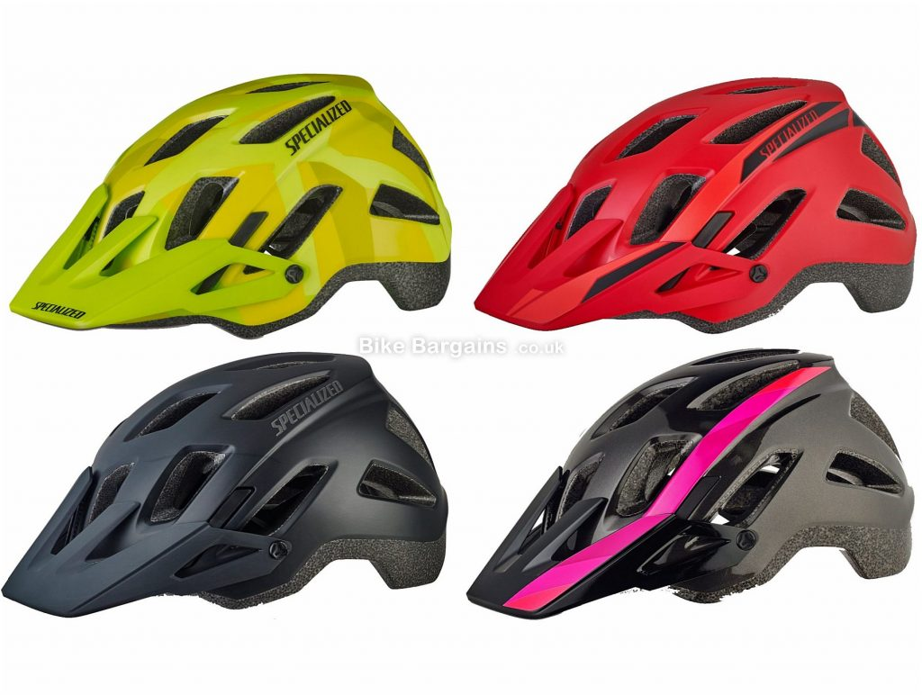 Specialized Ambush Comp MTB Helmet 2019 S, Black, Pink, Red, Yellow, 18 vents