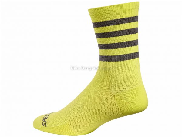 Specialized Road Tall Socks 2018 M, Yellow