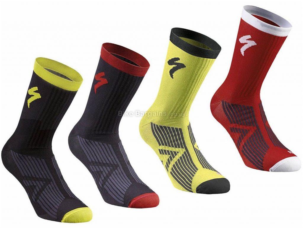 Specialized Sl Elite Winter Socks 2019 S, Black, Red, White, Yellow