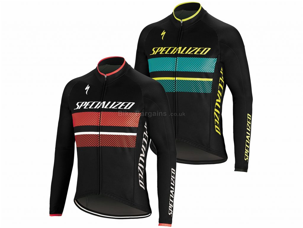 Specialized Wr Element Rbx Comp Logo Long Sleeve Jersey 2019 M, Black, Red, Turquoise, Yellow