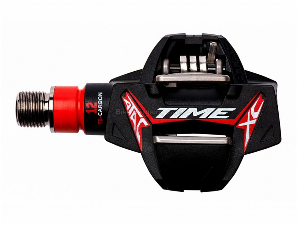 """Time Atac XC12 MTB Pedals Clipless, MTB, 248g, Carbon, Steel, Black, Red, 9/16"""""""
