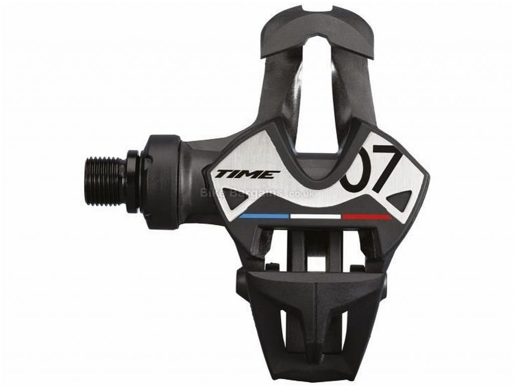 """Time Xpresso 7 Pedals Clipless, Road, 198g, Carbon, Steel, Black, White, Blue, Red, 9/16"""""""