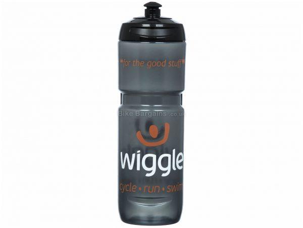 Wiggle 800ml Water Bottle 800ml, Polyethylene, Transparent, Black