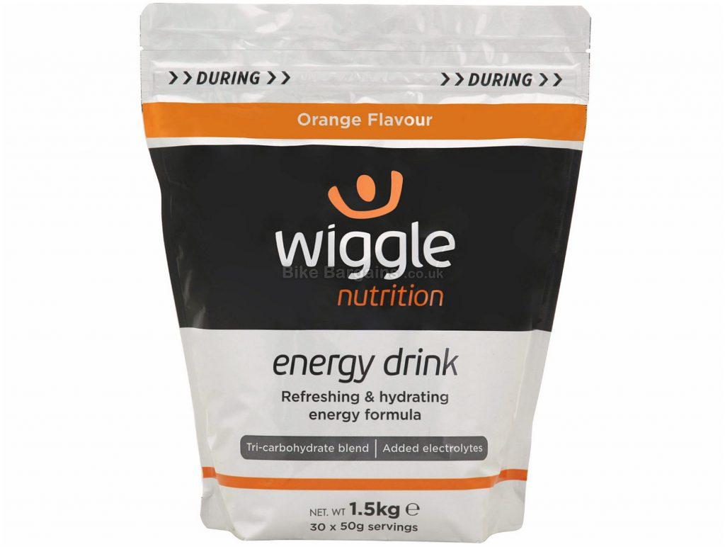 Wiggle Nutrition 1.5kg Energy Drink 1.5kg, Silver, Black, Orange
