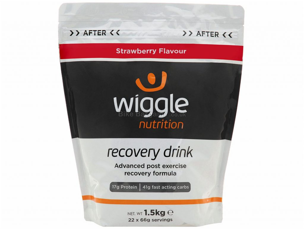Wiggle Nutrition 1.5kg Recovery Drink 1.5kg, Silver, Black
