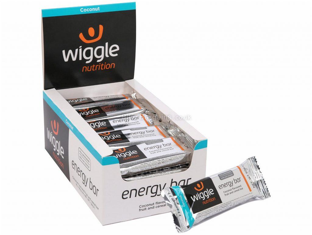 Wiggle Nutrition 20 x 60g Energy Bar 60g, Silver, Black