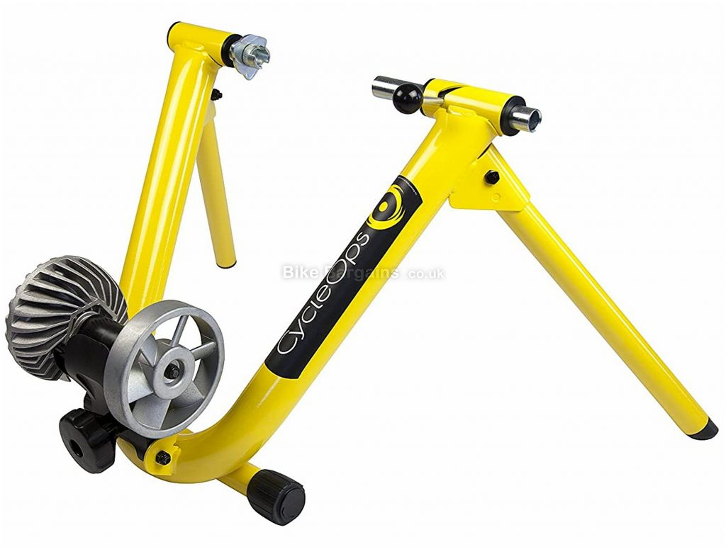 """CycleOps Basic Fluid Indoor Turbo Trainer 26"""" - 29"""" wheel sizes, QR included, Yellow, Black, Grey"""