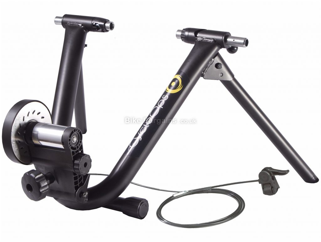 "CycleOps Mag+ Turbo Trainer 26"" - 29"" wheel sizes, folding design, QR included, Black, Silver"
