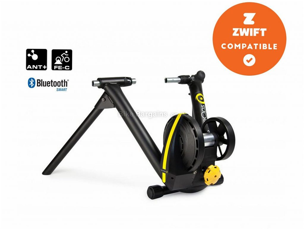 Cycleops Magnus Smart Turbo Trainer 1500 watts, 2.6lb flywheel, Black, Yellow