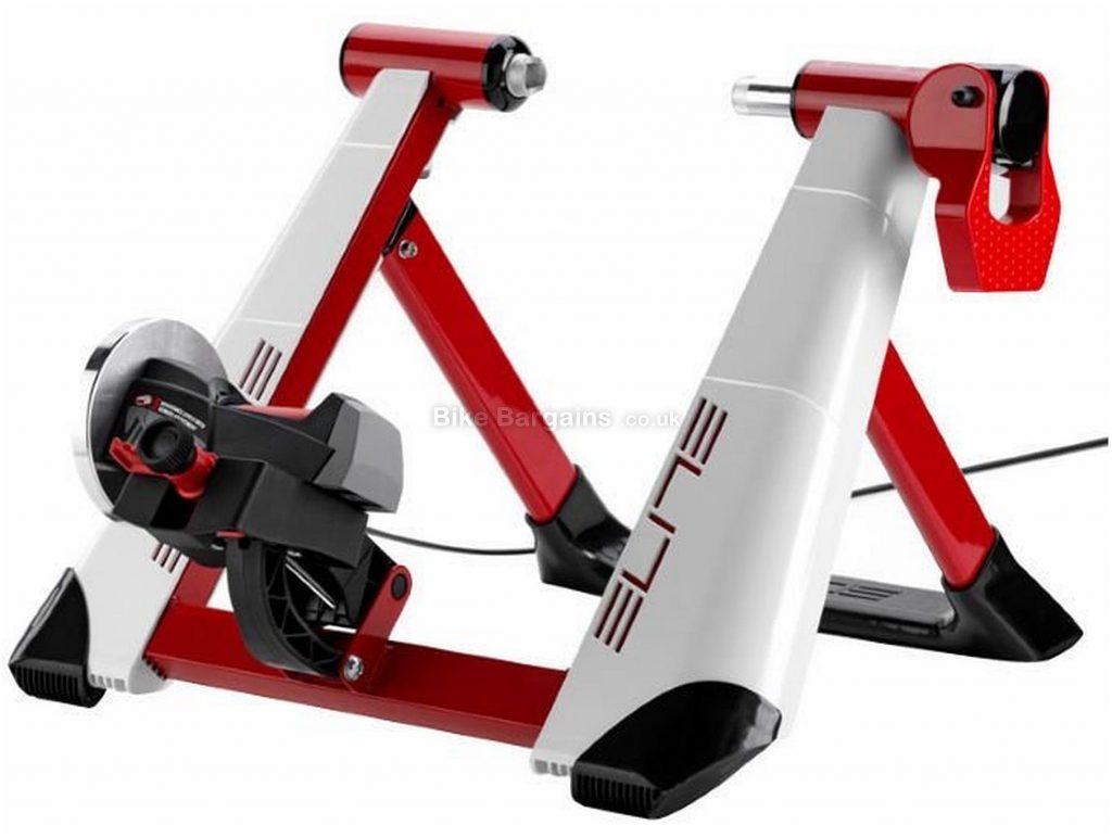 "Elite Novo Force Mag Turbo Trainer 24"" - 29"" wheel sizes, White, Black, Red"