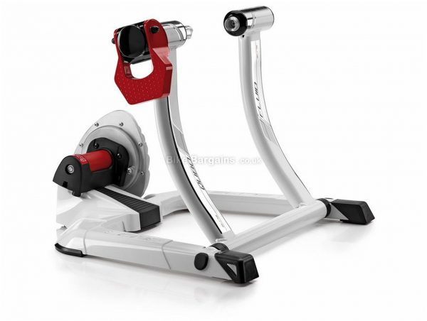 Elite Qubo Power Fluid Turbo Trainer Fluid resistance, White, Black, Red