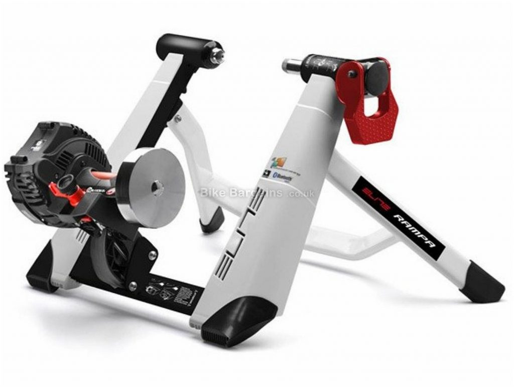Elite Rampa Ant+ Turbo Trainer Smart Trainer, White, Black, Red