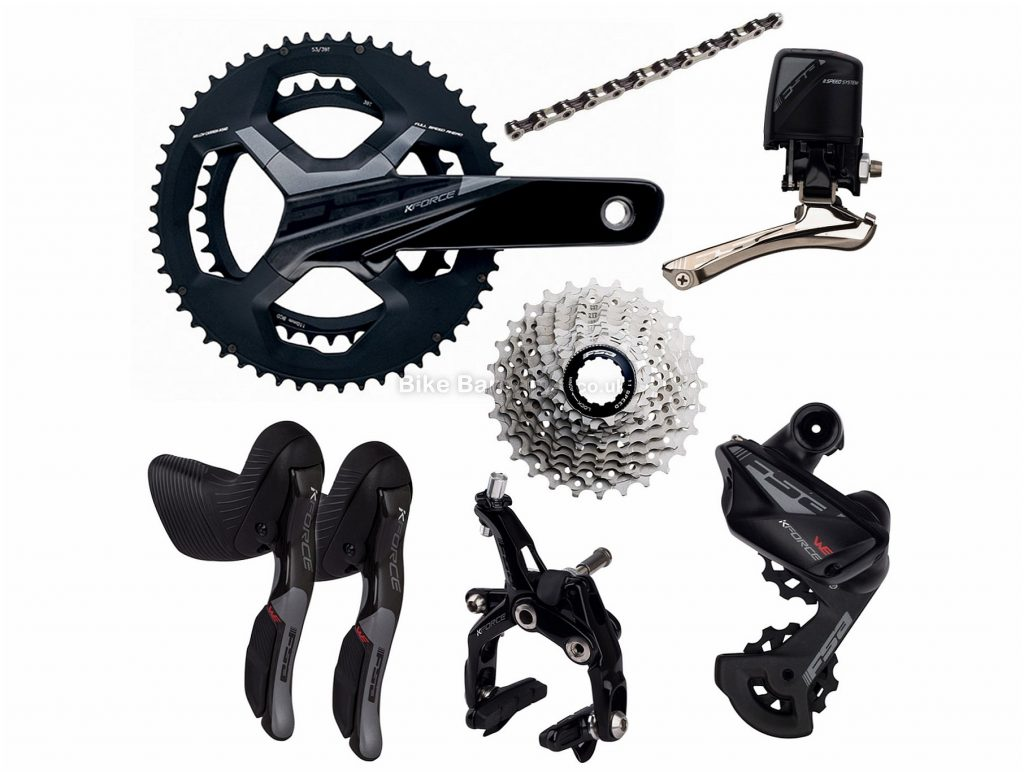 FSA K-Force WE Electronic 11 Speed Groupset 172.5mm, Double, 11 Speed, Alloy, Black, Silver