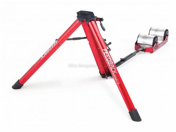 "Feedback Sports Omnium Turbo Trainer 26"" - 29"" wheel sizes, Red, Black"