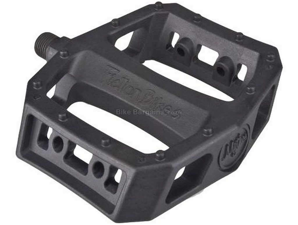 "Fiction Mythos Pedals 9/16"", Flat, Nylon, 400g, Black"
