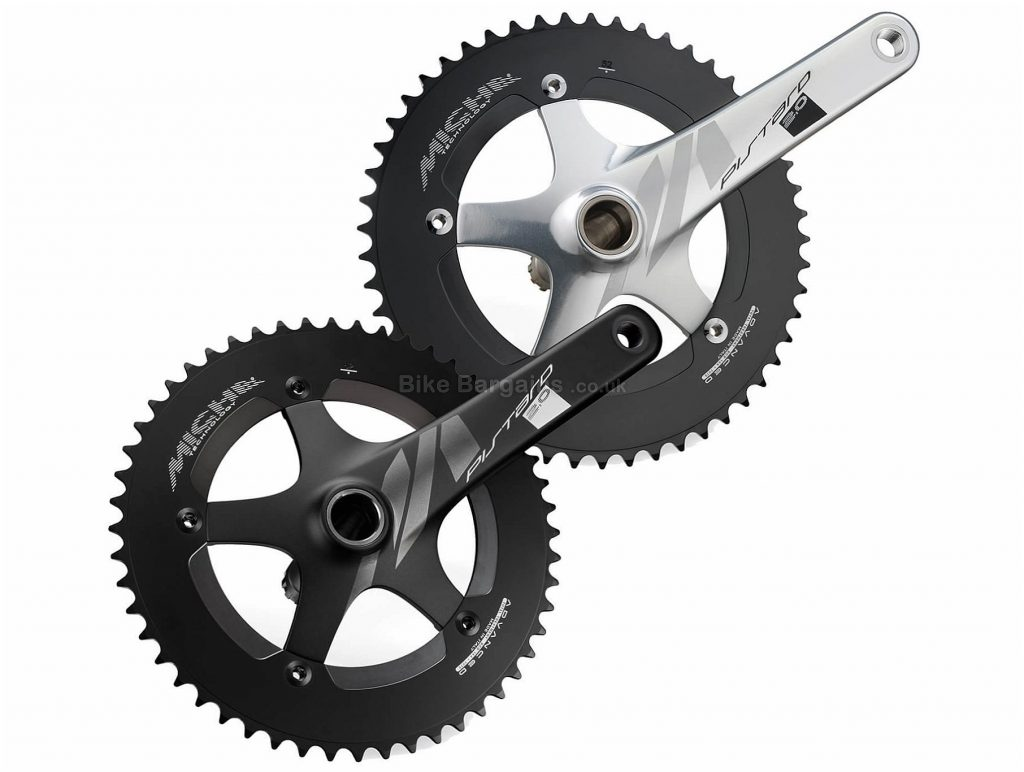 Miche Pistard 2.0 Chainset 165mm, 170mm, Single, Singlespeed, Alloy, 680g, Black, Silver