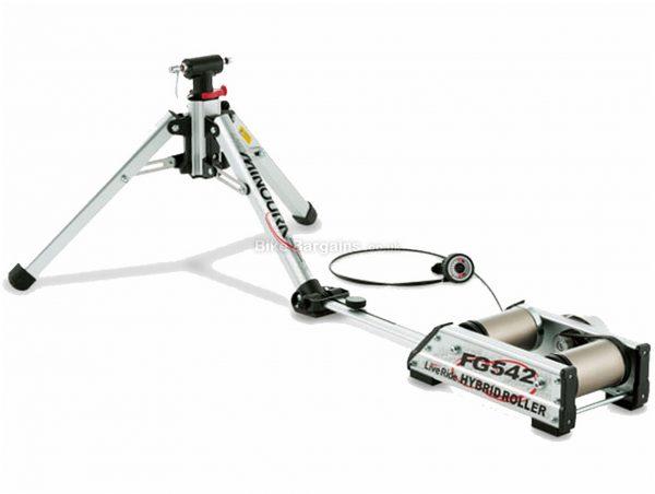 Minoura FG542 Hybrid Rollers 400 watts, 2.6kg flywheel, 10.1kg, Silver, Black