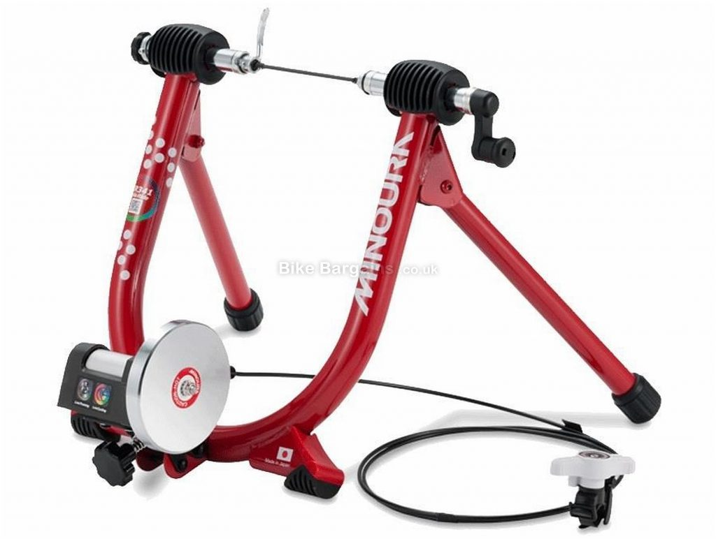 Minoura Live Ride LR341 Turbo Trainer 472 watts, 7 levels, 1.1kg flywheel, 5.9kg, Red, Black, Silver