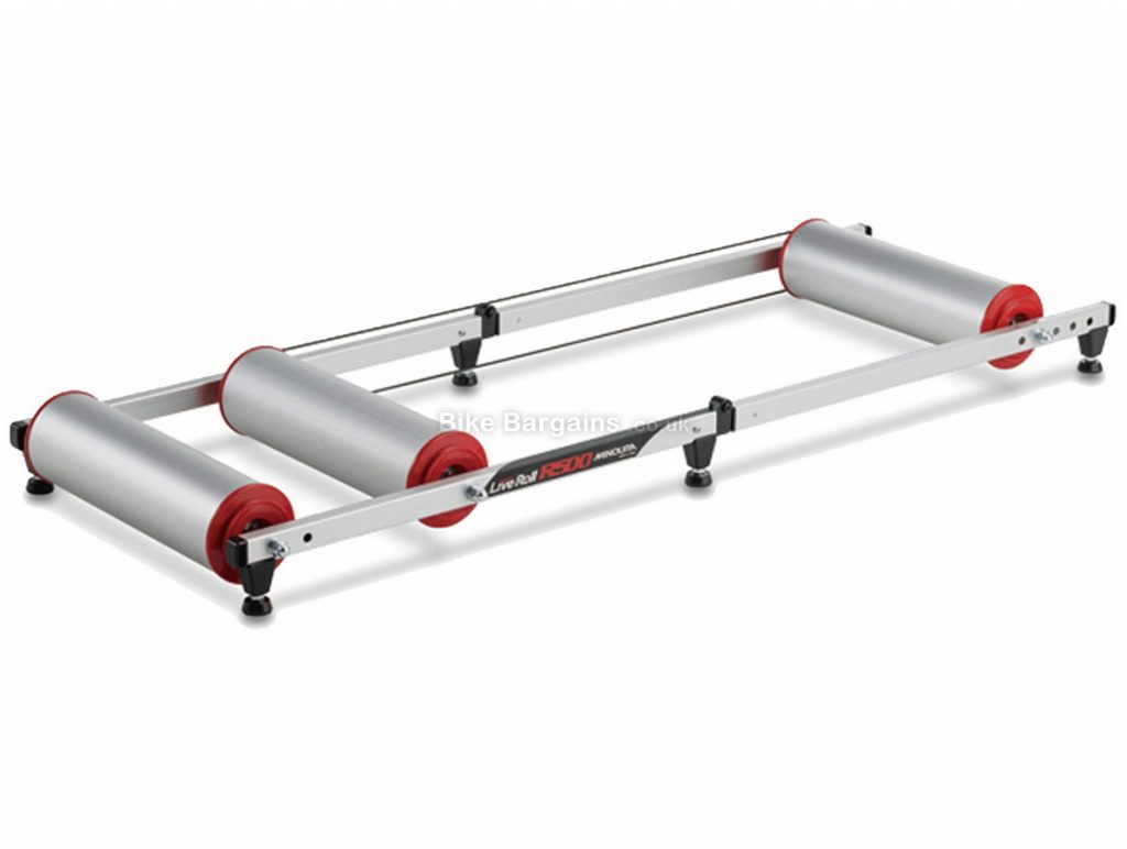 Minoura Live Roll R500 Rollers 105mm rollers, Silver, Red