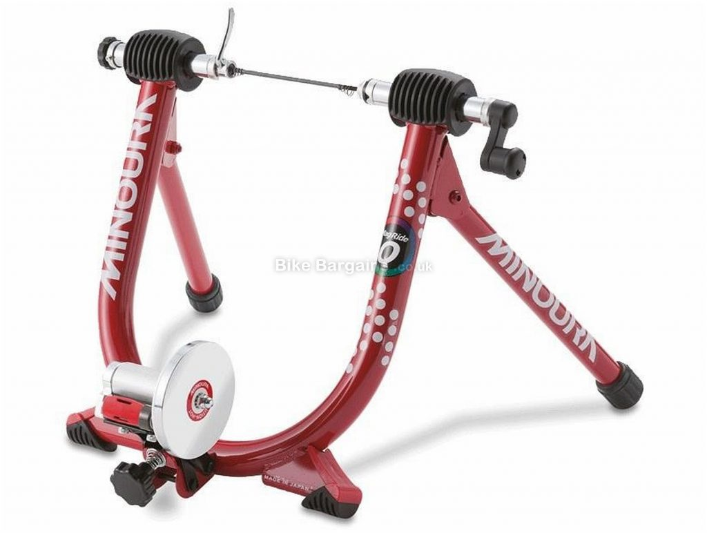 Minoura Mag Ride Q Turbo Trainer 472 watts, 850g flywheel, 3 levels, Red, Black, Silver