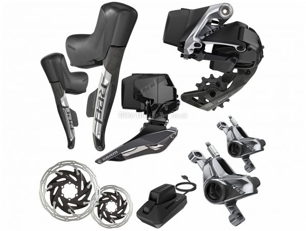 SRAM Red eTap AXS HRD 2x 12 Speed Groupset 170mm, 175mm, Double, 12 Speed, Alloy, Black, Silver