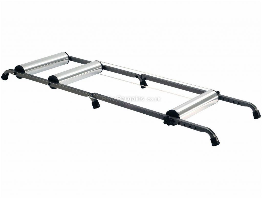Saris Aluminium Rollers Silent, Folding design, Silver, Black