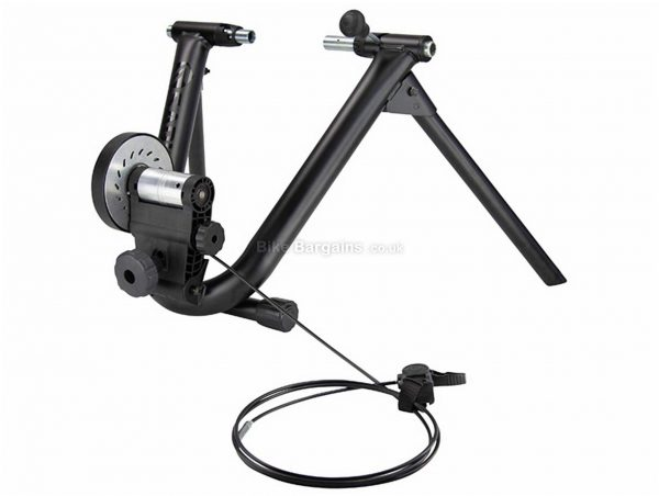 """Saris Mag+ Turbo Trainer Magnetic resistance, 26"""" - 29"""" tyre, Black, Silver"""