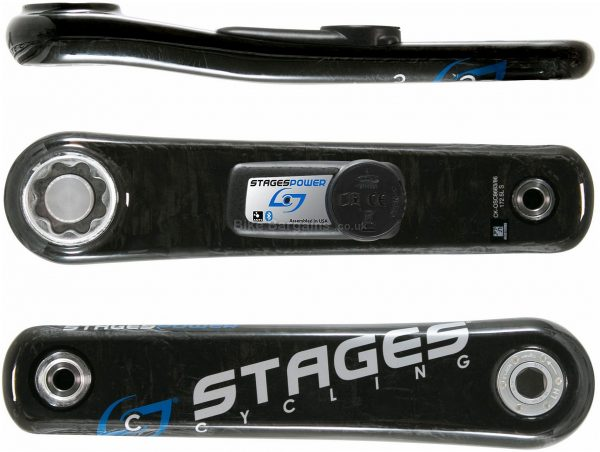 Stages Carbon BB30 Power Meter 170mm, 172.5mm, 175mm, Left Crank, Carbon, Black, 20g extra