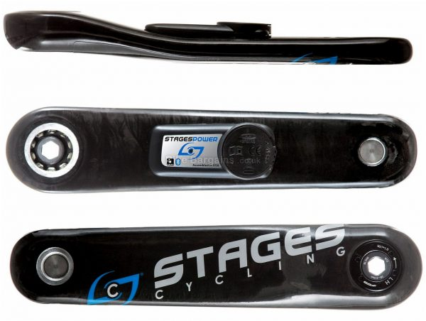 Stages Carbon GXP MTB Power Meter 170mm, 175mm, Left Crank, Carbon, Black, 20g extra