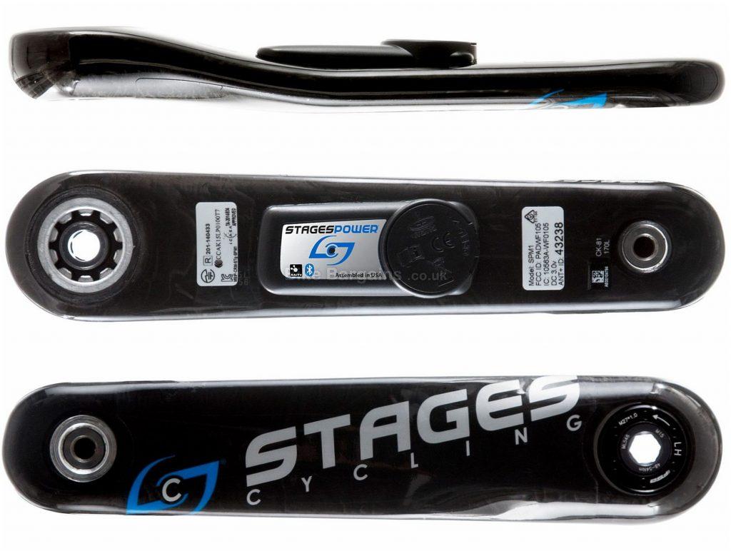 Stages Carbon GXP Road Power Meter 170mm, 172.5mm, 175mm, Left Crank, Carbon, Black, 20g extra