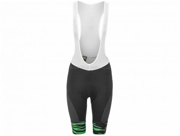 Ale Ladies Back to Nature Zebra Bib Shorts XS, Black, White, Green