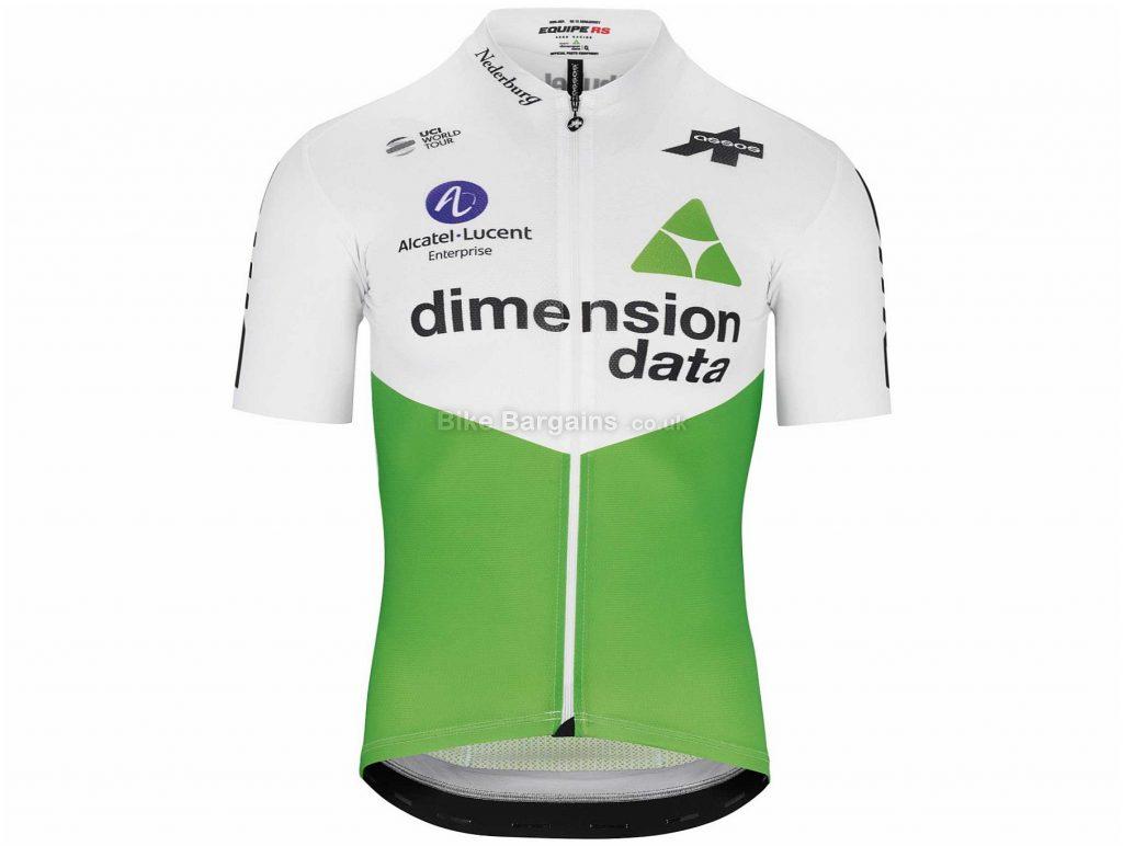 Assos Dimension Data RS Short Sleeve Jersey 2019 M,L,XL,XXL, White, Green