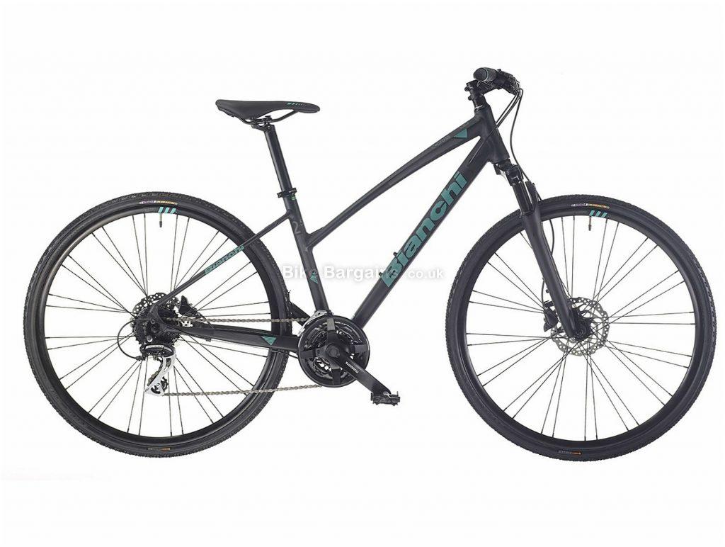 Bianchi C-Sport Cross 2.5 Dama Ladies Alloy City Bike 2019 43cm, Grey, 700c, Hardtail, 8 Speed, Disc, Triple Chainring