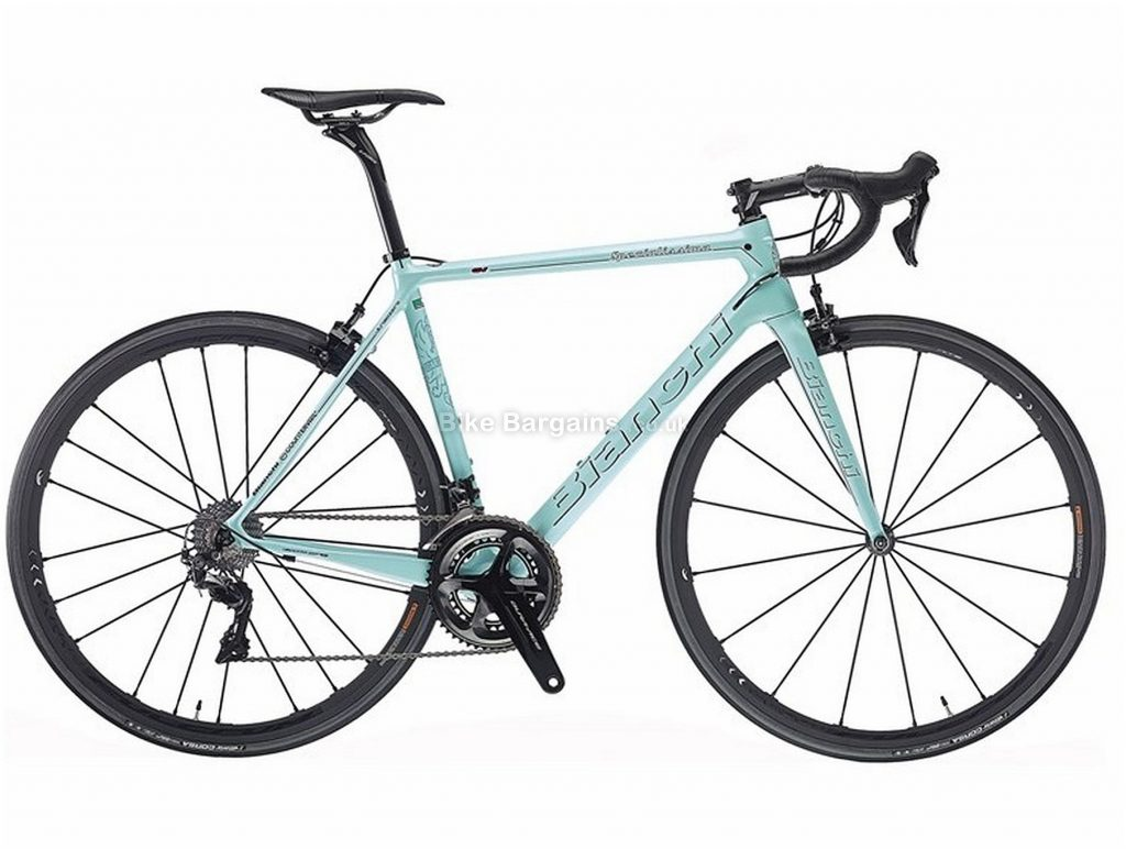 Bianchi Specialissima Dura-Ace N17 Carbon Road Bike 2018 50cm, Turquoise, Carbon, 11 Speed, Caliper Brakes, Double Chainring