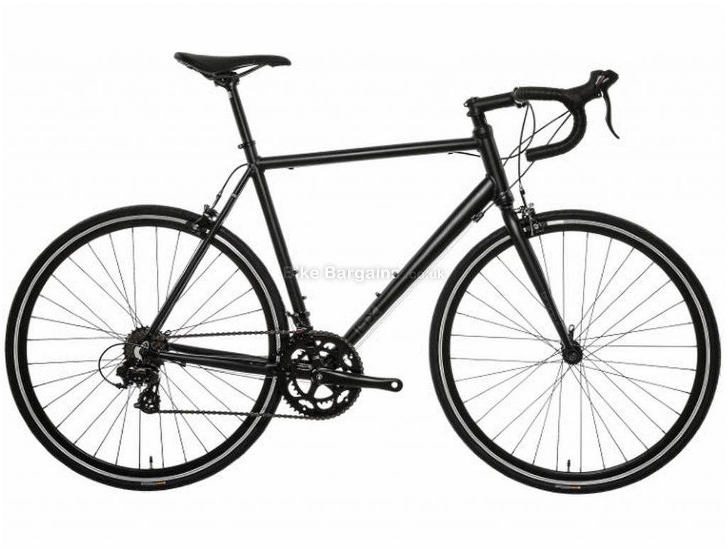 Brand-X Alloy Road Bike 2020 XS, Black, Alloy, 700c, 7 Speed, Double Chainring, Caliper Brakes, 11.5kg