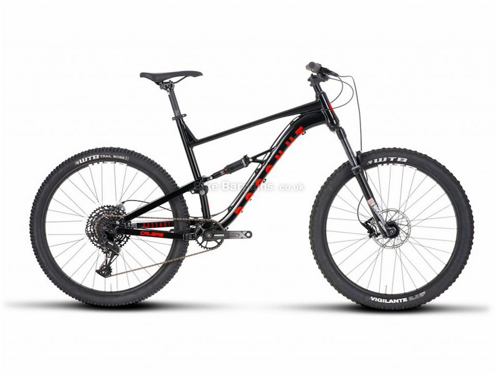 "Calibre Bossnut Limited Edition Alloy Full Suspension Mountain Bike L, Black, 27.5"", Full Suspension, 12 Speed, Disc, Single Chainring"