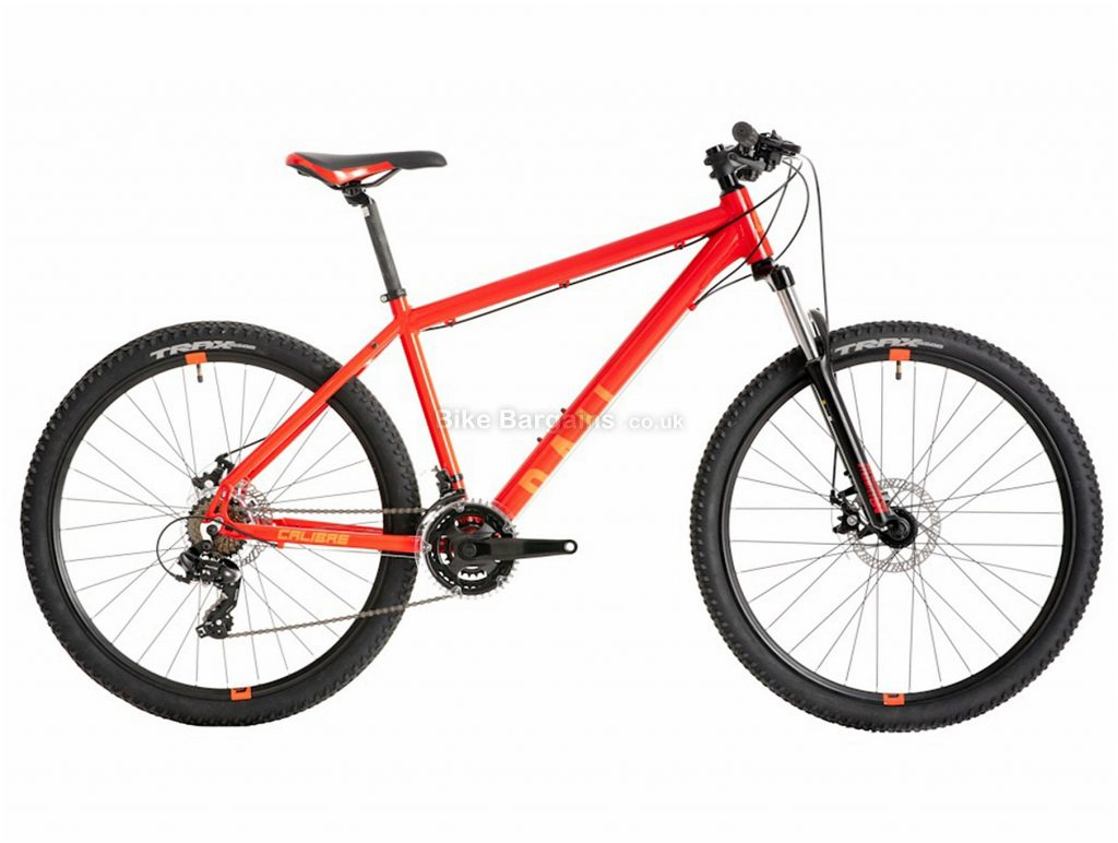 Calibre Rail Hardtail Mountain Bike S,M,L, Red, Alloy, 21 Speed, Disc, 27.5""